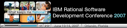 Rational Software Development Conferene 2007